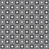 Modello senza cuciture geometrico, fondo astratto Progettazione a quadretti, quadrati in bianco e nero, illusione ottica Per Immagini Stock