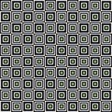Modello senza cuciture geometrico, fondo astratto Progettazione a quadretti, quadrati in bianco e nero, illusione ottica Per Fotografia Stock