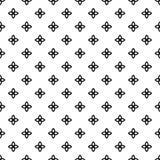 Modello senza cuciture GEOMETRICO nero nel fondo bianco Fotografie Stock