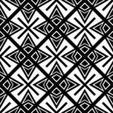 Modello senza cuciture GEOMETRICO nero nel fondo bianco Immagine Stock