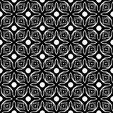 Modello senza cuciture GEOMETRICO nero nel fondo bianco Fotografie Stock Libere da Diritti