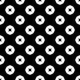 Modello senza cuciture GEOMETRICO nero nel fondo bianco Fotografia Stock Libera da Diritti