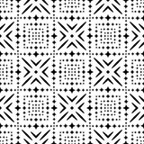 Modello senza cuciture GEOMETRICO nero nel fondo bianco Fotografia Stock