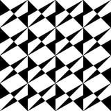 Modello senza cuciture GEOMETRICO nero nel fondo bianco immagine stock libera da diritti