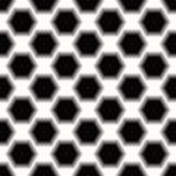 Modello senza cuciture geometrico scuro del fondo esagonale astratto in bianco e nero illustrazione vettoriale