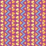 Modello senza cuciture geometrico semplice verticale di vettore del tessuto illustrazione di stock