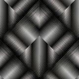 modello senza cuciture geometrico a strisce 3d La geometria strutturata di vettore Immagine Stock Libera da Diritti