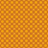 Modello senza cuciture geometrico sui precedenti arancio illustrazione vettoriale