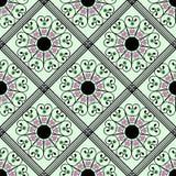 Modello senza cuciture geometrico, verde, rombo grigio Fotografie Stock Libere da Diritti
