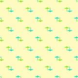 Modello senza cuciture giallo verde blu della libellula Immagini Stock Libere da Diritti