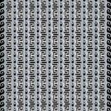 Modello senza cuciture greco in bianco e nero a strisce strutturato 3d Immagini Stock