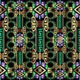 Modello senza cuciture greco geometrico luminoso variopinto 3d Fotografia Stock Libera da Diritti