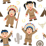 Modello senza cuciture indigeno di ringraziamento Immagini Stock