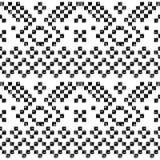 Modello senza cuciture invecchiato in bianco e nero di lerciume azteco geometrico, vettore Immagine Stock