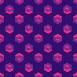 Modello senza cuciture isometrico con i cubi di illusione ottica Fotografia Stock