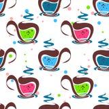 Modello senza cuciture leggero del tè royalty illustrazione gratis
