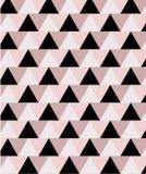 Modello senza cuciture minimo geometrico nel rosa e nei toni neri illustrazione vettoriale
