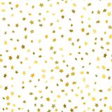 Modello senza cuciture moderno bianco astratto con le stelle d'oro illustrazione di stock