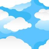 Modello senza cuciture moderno della nuvola Immagini Stock