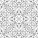 Modello senza cuciture monocromatico con il motivo floreale del mosaico Immagine Stock
