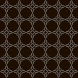 Modello senza cuciture monocromatico di arte piana semplice con fondo nero illustrazione di stock