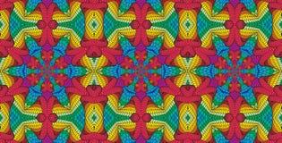 Modello senza cuciture multicolore caleidoscopico Fotografie Stock Libere da Diritti