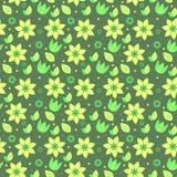 Modello-senza cuciture-natura-fiore Immagini Stock