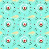Modello-senza cuciture-natura-sushi Immagine Stock