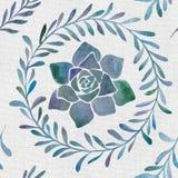 Modello senza cuciture naturale botanico dell'acquerello royalty illustrazione gratis