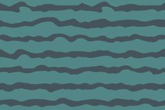 Modello senza cuciture nautico ondulato di vettore illustrazione di stock