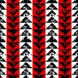 Modello senza cuciture nero della spugna della stampa di lerciume geometrico bianco e rosso dei triangoli, vettore Immagine Stock