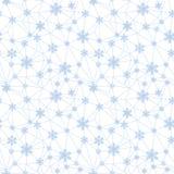 Modello senza cuciture netto dei fiocchi di neve di Natale royalty illustrazione gratis