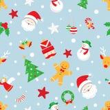 Modello senza cuciture: Oggetti di Natale Fotografie Stock
