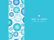 Modello senza cuciture orizzontale dei fiocchi di neve rotondi Fotografia Stock Libera da Diritti