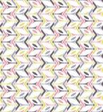 Modello senza cuciture orizzontale di prima di Libox forma regolare della scatola dei colori Fotografia Stock
