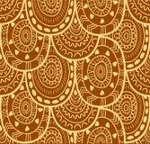 Modello senza cuciture ornamentale indigeno decorativo del tessuto etnico nel vettore Fondo senza fine Fotografia Stock Libera da Diritti