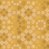 Modello senza cuciture ornamentale semplice di vettore del fiocco di neve dorato e rosa-chiaro Carta da parati astratta, avvolgen royalty illustrazione gratis