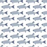 Modello senza cuciture: pesci Fotografie Stock Libere da Diritti