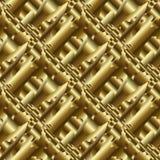Modello senza cuciture psichedelico 3d dell'oro BAC dorato astratto di vettore illustrazione vettoriale