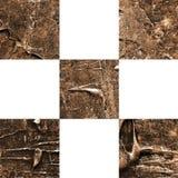 Modello senza cuciture a quadretti astratto strutturato di lerciume Fotografie Stock