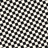 Modello senza cuciture a quadretti diagonale Struttura geometrica di vettore in bianco e nero illustrazione di stock