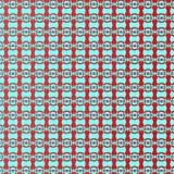 Modello senza cuciture ripetibile rosso e blu di Sinewave Immagini Stock