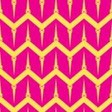 Modello senza cuciture rombico geometrico semplice nel colore rosa e giallo Immagine Stock