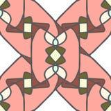 Modello senza cuciture rosa con gli elementi del mosaico Fotografia Stock Libera da Diritti