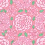 Modello senza cuciture rosa pastello visibile di colore di forma del cerchio del fiore illustrazione vettoriale