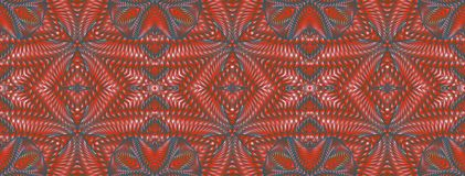 Modello senza cuciture rosso caleidoscopico Fotografie Stock Libere da Diritti