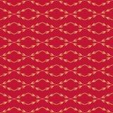 Modello senza cuciture rosso di vettore Struttura alla moda Fondo semplice floreale senza fine Rami diagonali con le bacche Fotografia Stock