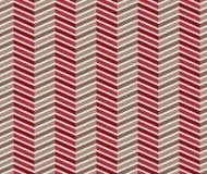 Modello senza cuciture rosso e marrone di zigzag Fotografia Stock