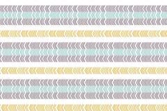 Modello senza cuciture scandinavo lineare Modello di zigzag Ornamento minimalistic astratto con colore d'avanguardia Campione mod illustrazione vettoriale