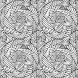Modello senza cuciture scritto a mano geometrico basato sulla linea e sui cerchi illustrazione vettoriale